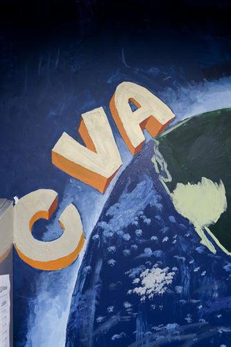 A drawing of CVA on a globe